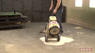 Training How to Use a 1 Disc Concrete Grinder Wedge Less Style   EDCO