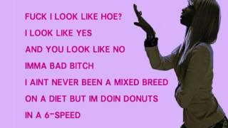 Nicki Minaj Up All Night Verse Lyrics Video