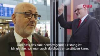 ÖBB Perspektivenwechsel: Vorstand Andreas Matthä als Zugbegleiter