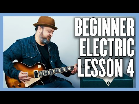 Beginner Electric Guitar Lesson 4 - Open Chords
