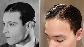 Rudolph Valentino Hair Tutorial | 1920s Side Part | Executive Contour