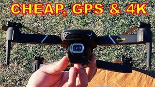 Low Cost GPS Drone with 4K Camera - Mavic Mini Clone, Eachine E520S Smart FPV Quadcopter FULL REVIEW