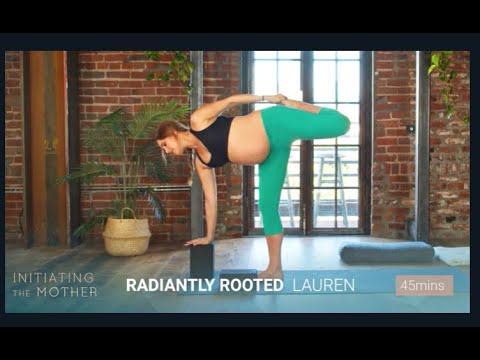 FULL 45min Prenatal Yoga Practice with Lauren Eckstrom