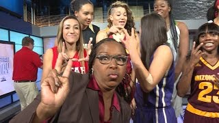 2015 Pac-12 Women's Basketball Media Day: Selfies and smiles for USC Trojans