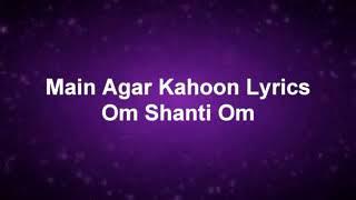 Main agar kahoon song Lyrics - YouTube