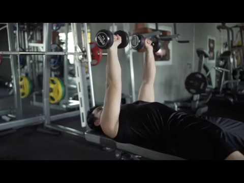 Dumbbell Bench Press,Rotating Grip