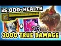 OVER 25 000 HEALTH 3000 TRUE DAMAGE FEAST MAXIMUM HP CHO 39 GATH JUNGLE IS SO BROKEN Nightblue3