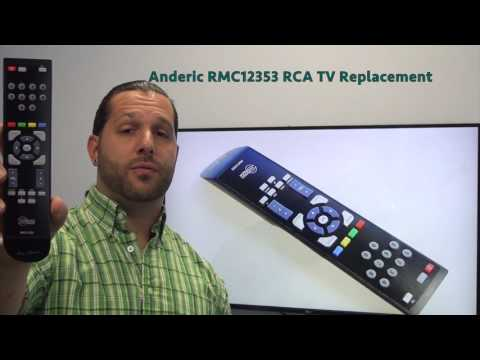 ANDERIC RMC12353 to Replace RCA RC246 TV Remote Control