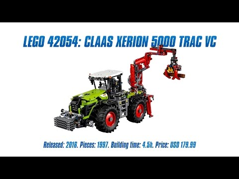 lego technic claas xerion 5000 trac vc 42054 g nstig. Black Bedroom Furniture Sets. Home Design Ideas