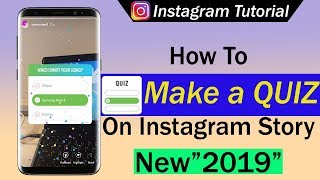 How To Make A Quiz on Instagram Story