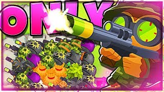 HE'S CRAZY!! :: Bloons TD6 :: SNIPER TOWER BTD6 - Most