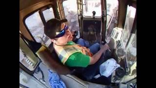Operating in the cab of a Caterpillar D11R