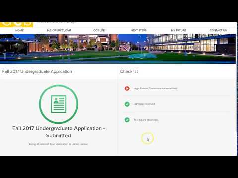 How to Access the CCS Student Portal - Applied Students