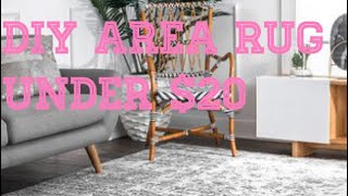 DIY FAUX FUR [NO SEW] Area Rug Easy For Under $20