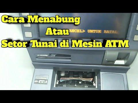 Cara Setor Tunai Atau Nabung di Mesin ATM Mandiri