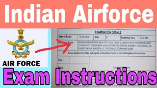 Airforce exam instructions in telugu 2019||Indian Airforce Group-X,Y exam March 14-17 exam instructi