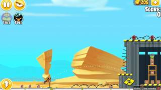 Angry Birds Seasons Power Up Test Site Make Triangle 3 Stars Walkthrough