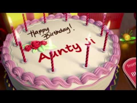 Download Happy Birthday Aunty ji Mp4 HD Video and MP3