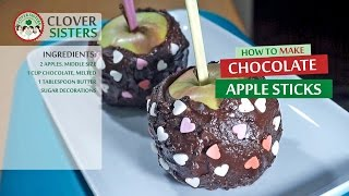 Chocolate apple sticks