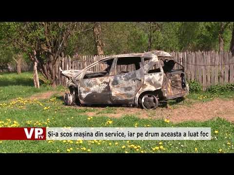 Și-a scos mașina din service, iar pe drum aceasta a luat foc