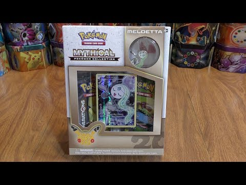 Meloetta Mythical Pokemon Collection Opening