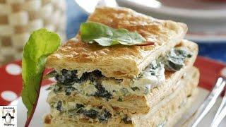 Рецепт закусочного торта.Наполеон с зеленью