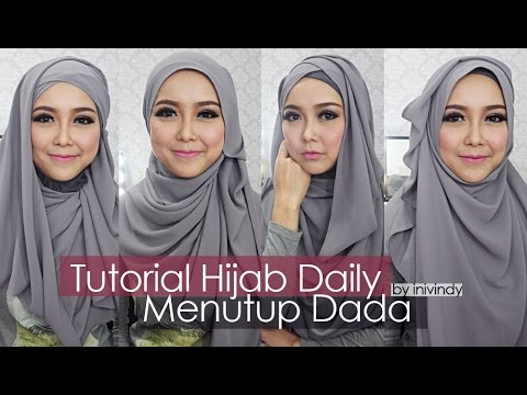 Video Tutorial Hijab Sehari-hari Hijabstyle Menutup Dada by Inivindy