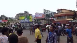 preview picture of video 'A Busy Circle, Kohima'