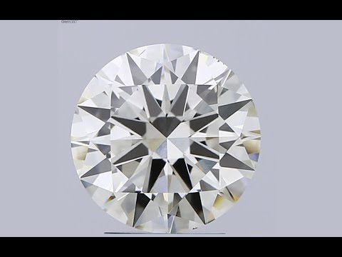 3.00ct Lab Grown Diamond CVD K SI1 Round Brilliant Cut HRD Certified Stone