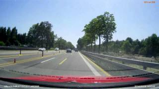 preview picture of video 'Niemcy (Deutschland) A95 München Kreuzhof - Dreieck Starnberg x3'