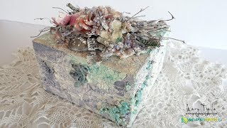 Step-by-Step Tutorial Altered Box Mixed Media Techniques For Scraps N Pieces