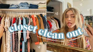 declutter my excessive closet with me!