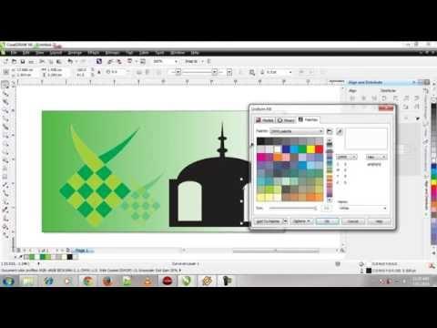 Video Cara Membuat Kartu Ucapan lebaran dengan ketupat 1435 H