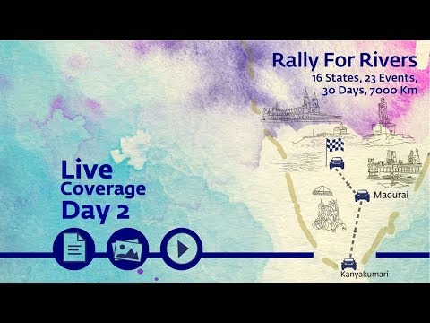 Event Rally for Rivers at Kanyakumari