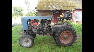 Маленький обзор самодельного трактора И посылка от друга