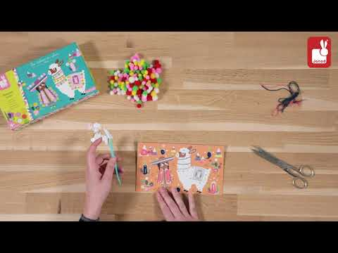 Youtube Video for Llama Pom Poms - Easy stick on decorating