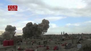 preview picture of video 'هام || رصد تفجير مسجد نبي الله حزقيل في مدينة #داريا من قبل قوات النظام 25 2 2015'