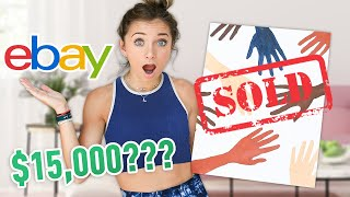 $15,000 for My Bad Art on eBay?? | Twin VS Twin Challenge #WithMe