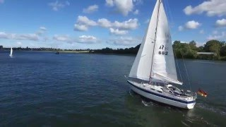 Hallberg-Rassy 312 Mk II sailing on the Schlei in Germany