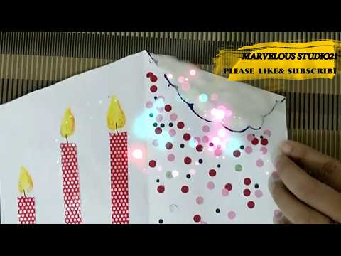 DIY Simple Diwali or Birthdays card ideas