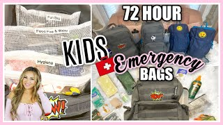 KIDS EDITION! 72 HOUR EMERGENCY BUG OUT BAGS | HOW TO PREPARE YOUR FAMILY GO KITS