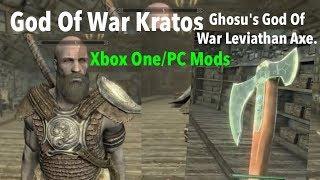 Skyrim SE Xbox One/PC Mods|God Of War Kratos Race/God Of War Leviathan Axe.