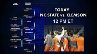 NC State Set to Tangle with Clemson on Day 2 of ACC Tourney