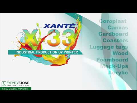 Xante UV Flatbed Printer