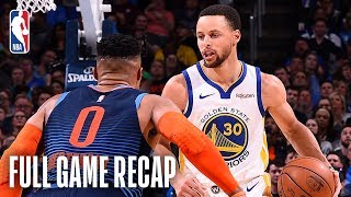 WARRIORS vs THUNDER | Stephen Curry Leads Golden State Past OKC | March 16, 2019