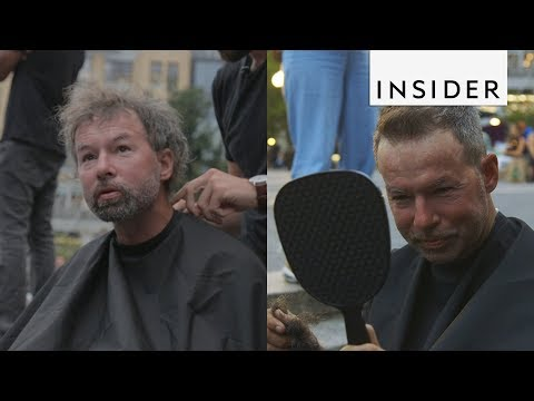 Giving Homeless People Free Haircuts