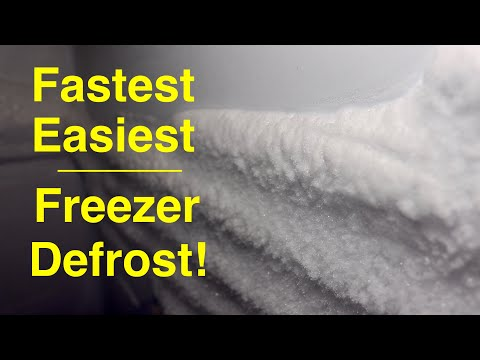 How to ●  FREEZER DEFROST ● Fast and simple ( that works ! )