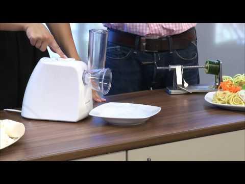 Rosenstein & Söhne Spiralschneider mit Edelstahlklinge für Gemüse & Co