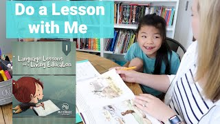 Homeschool With Me | Language Lessons For A Living Education Level 1 | Do A Lesson With Me 1st Grade