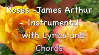 Roses -James Arthur / Cover/ Instrumental with Lyrics and Chords